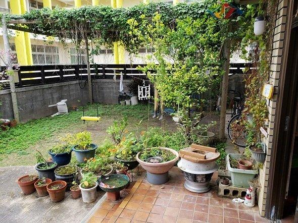 民泊「海風」の中庭