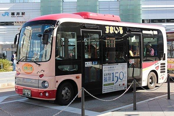 福井市のコミュニティバス「すまいる」北ルート(SONIC BLOOMINGさん撮影、Wikimedia Commonsより)