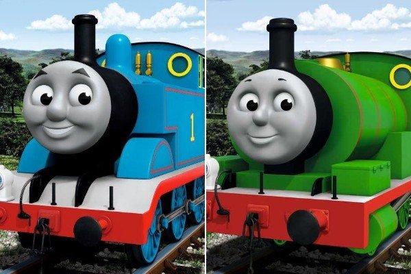 左がトーマス、右がパーシー (C)2019 Gullane(Thomas) Limited.