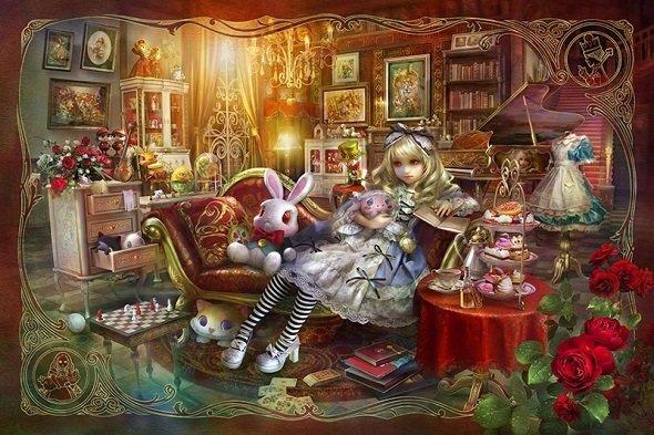 新章第1弾で発表した「Alice Library」 (C)SHU