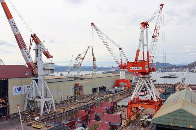 造船所の迫力に圧倒