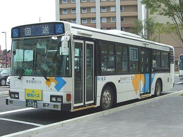 熊本都市バス(Muyoさん撮影、Wikimedia Commonsより)