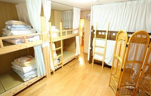 ドミトリー形式のゲストハウス客室