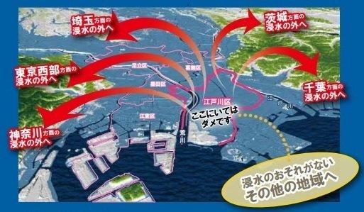 江戸川区水害ハザードマップ(江戸川区役所公式サイトより)