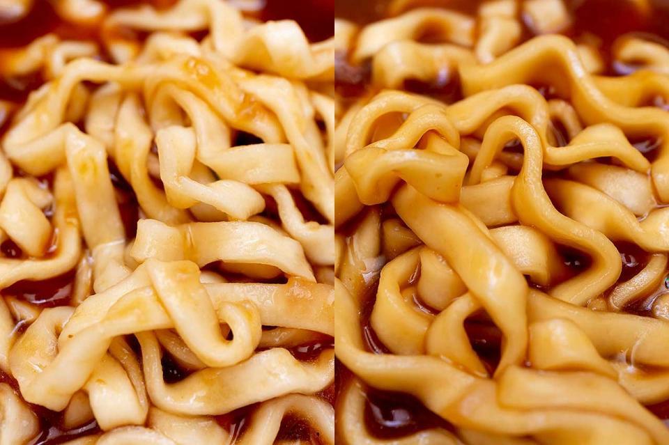 麺(左:寿がきや食品 右:東洋水産)