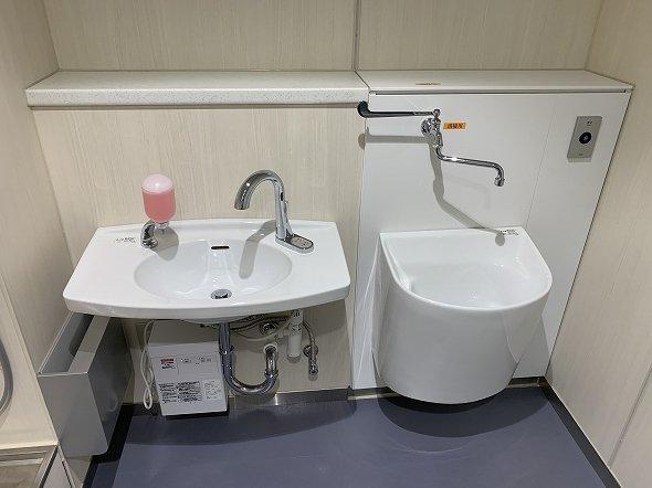 ダストボックス、お手洗いと汚物流し