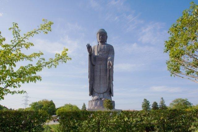 青銅製大仏で世界一の高さを誇る牛久大仏(牛久市)