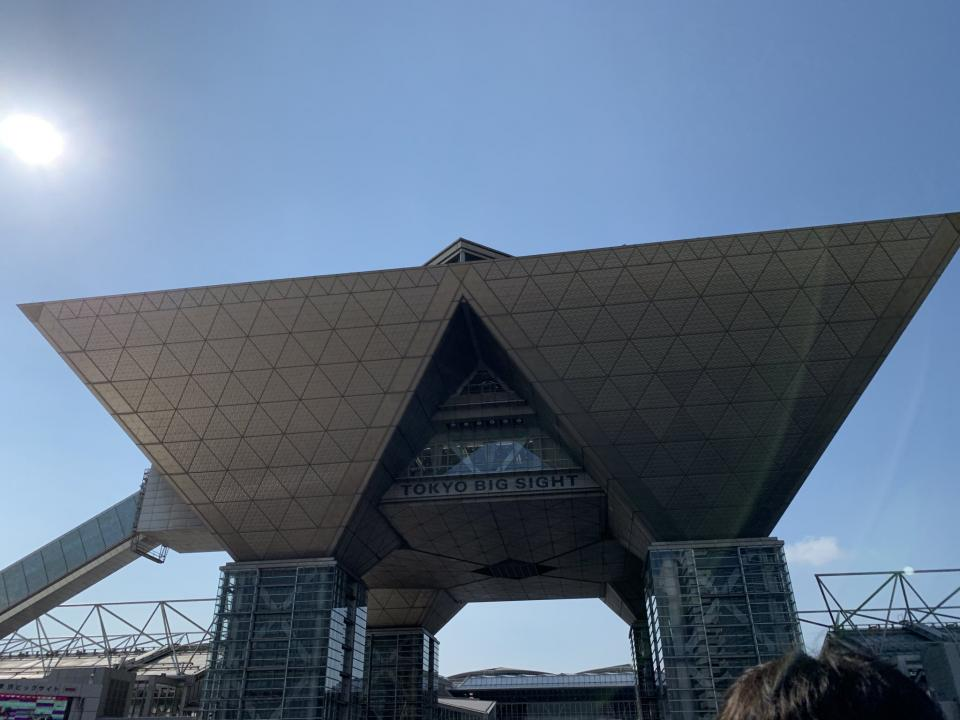 コミックマーケット96当日の東京ビッグサイト(2019年8月11日、Jタウンネット撮影)