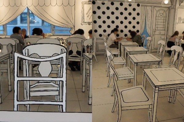 話題の「2D Cafe」(以下写真は2019年8月23日、Jタウンネット編集部撮影)