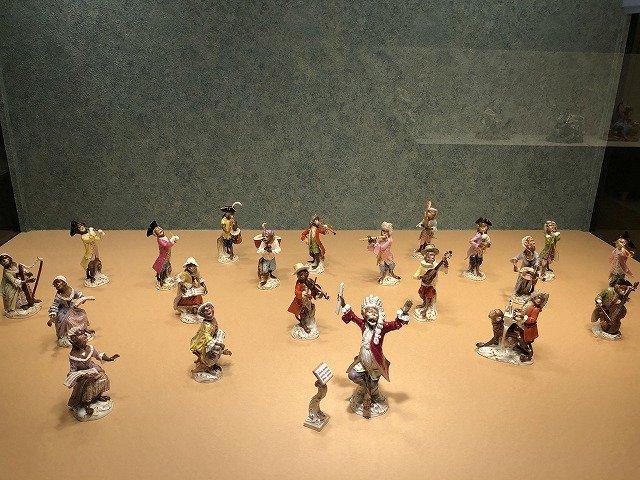 「猿の楽団」 ヨハン・ヨアヒム・ケンドラー、ペーター・ライニッケ 1820-1920年頃 個人蔵