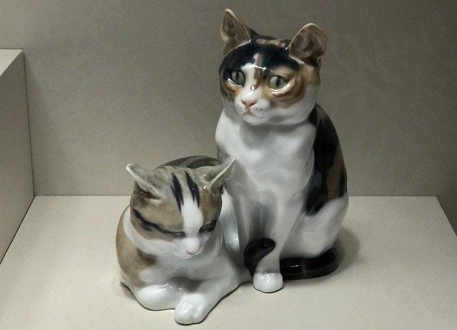 「二匹の猫」 オットー・ピルツ 1934-1940年頃 個人蔵