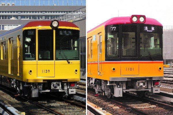 向かって左が1000系特別仕様車、右が1000系量産車(画像は東京メトロ提供)