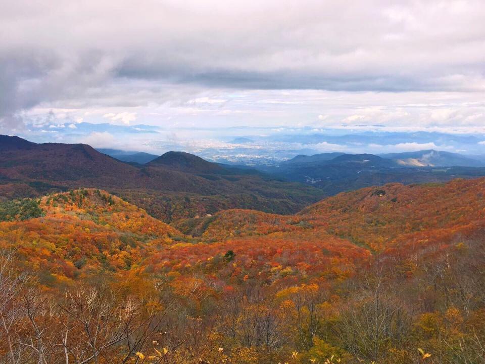 旅館へ続く山道からの眺め