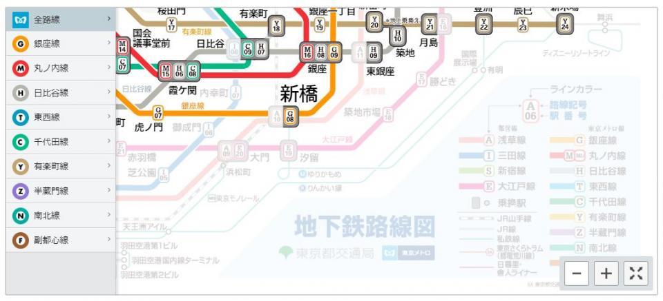 上から開業順に(東京メトロ公式サイトより)