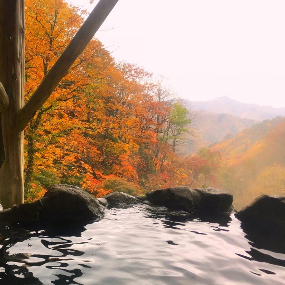 混浴露天からの眺望