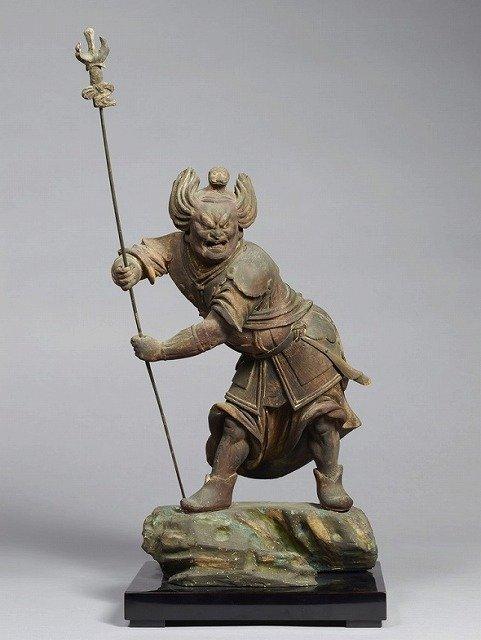真達羅大将立像(寅)(十二神将立像のうち)。(奈良国立博物館所蔵、収蔵品データベースより)
