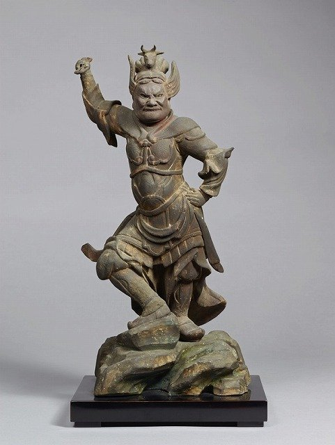 招杜羅大将立像(丑)(十二神将立像のうち)。(奈良国立博物館所蔵、収蔵品データベースより)