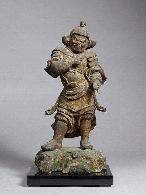 毘羯羅大将立像(子)(十二神将立像のうち)。(奈良国立博物館所蔵、収蔵品データベースより)