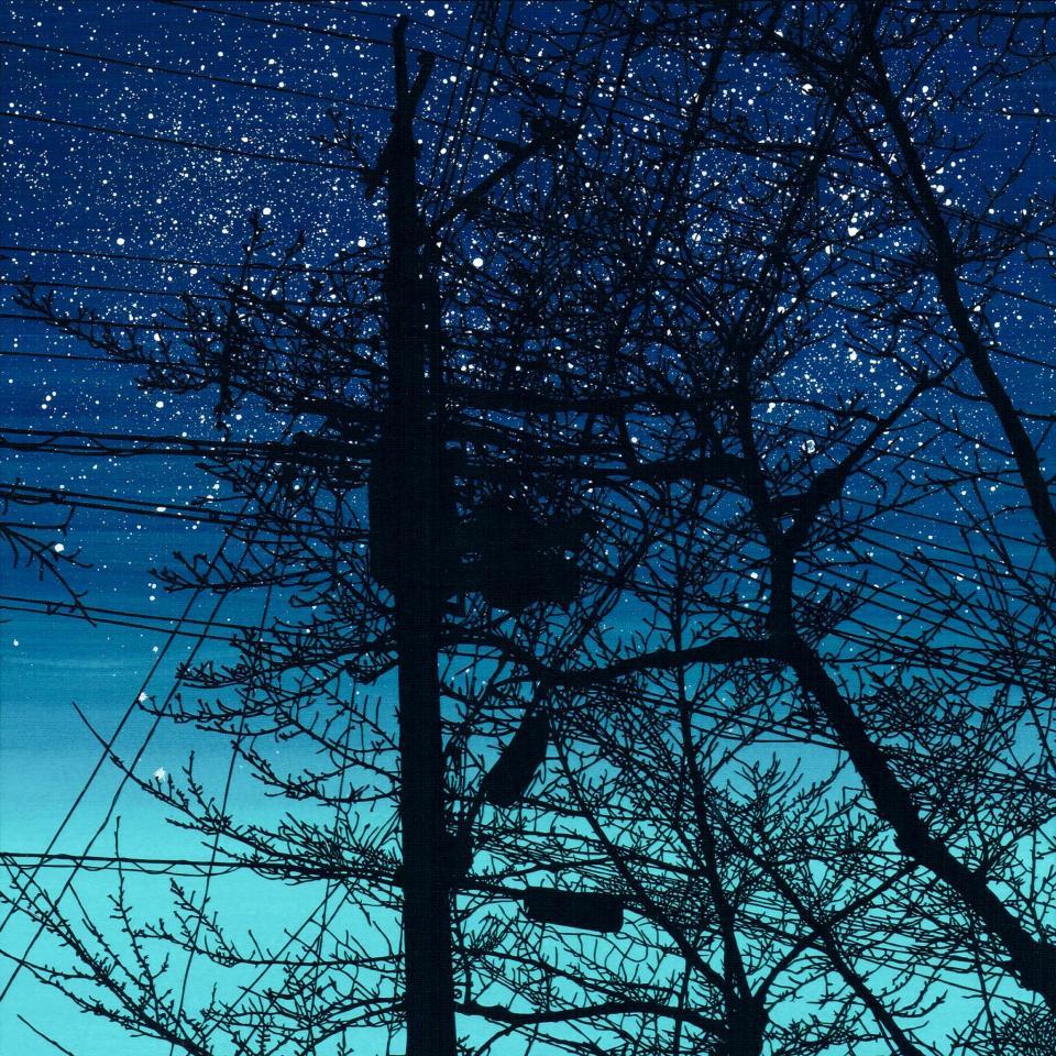 京都「哲学の道」をモチーフにした「夜に歩けば」(斉藤洋樹さんの公式ツイッターより)