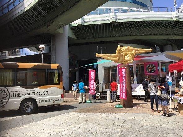 猫の譲渡会の会場前(画像提供:名古屋市健康福祉局健康部)