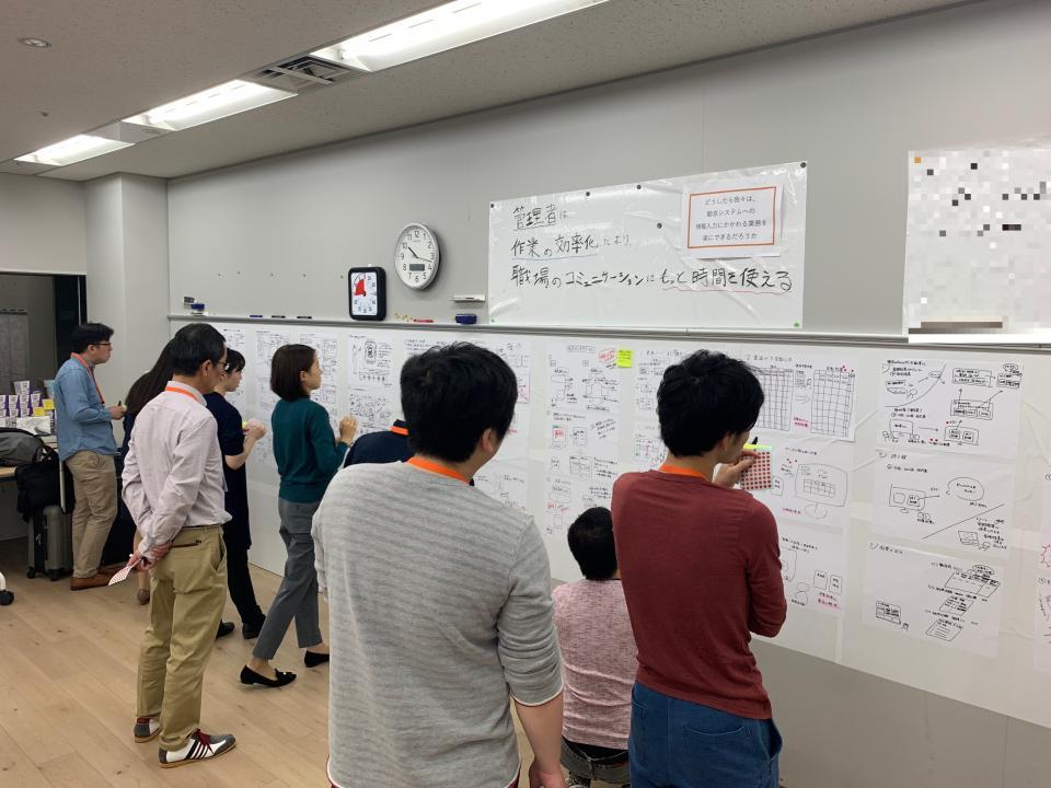 10月に行われたワークショップ。広島電鉄からは進矢さんを含む6人が参加した