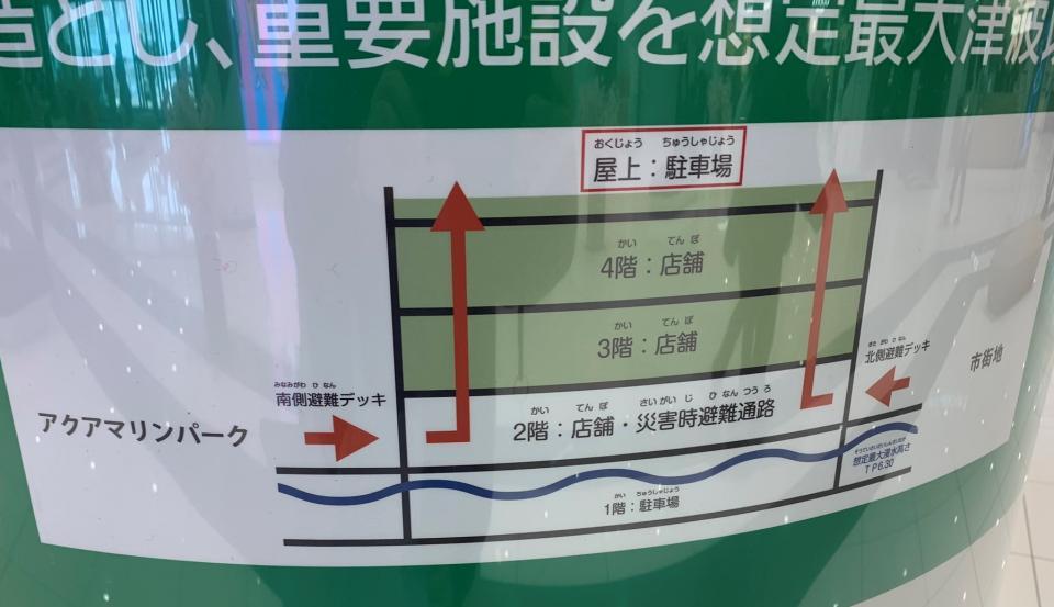 津波の浸水被害に備えての構造(画像はでまえ-T@d_itchouさん提供)