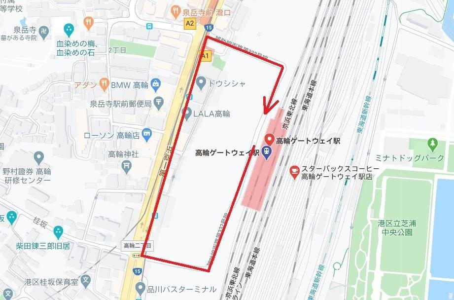 赤線が歩いたルート(C)Google