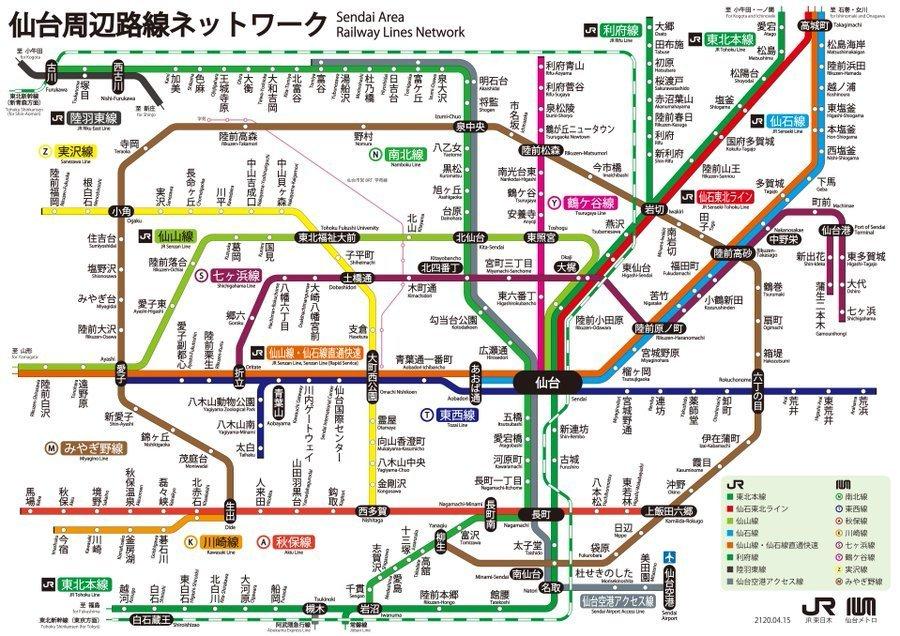 100年後に実現するかも? 架空の地下鉄「仙台メトロ」の路線図がこちら ...