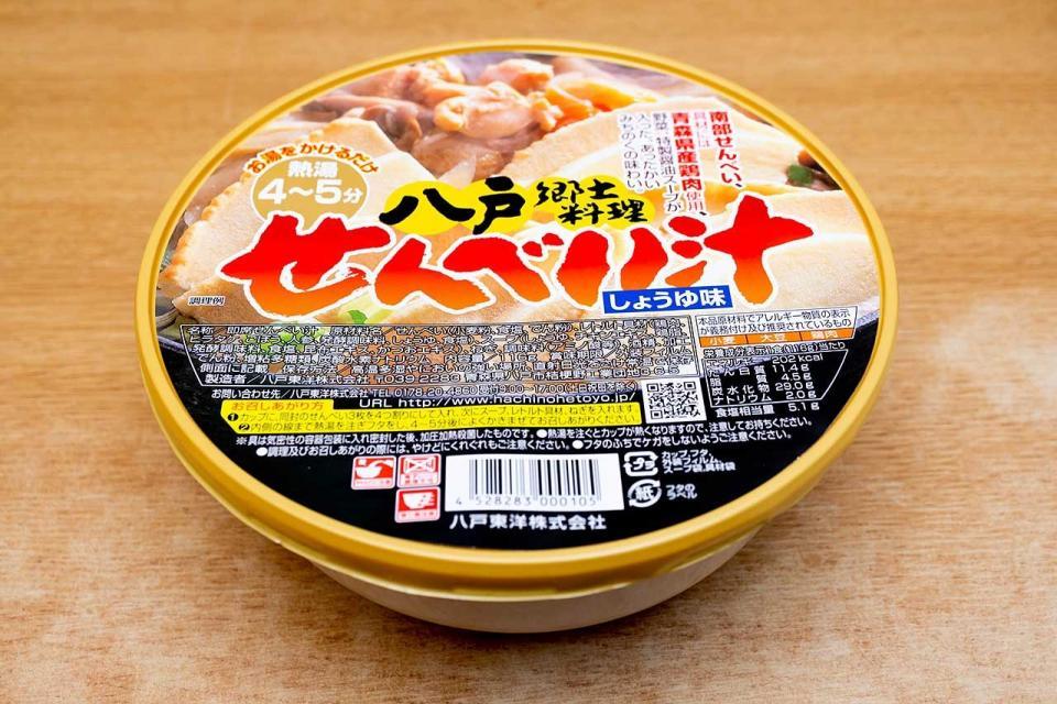 八戸東洋「せんべい汁 しょうゆ味」