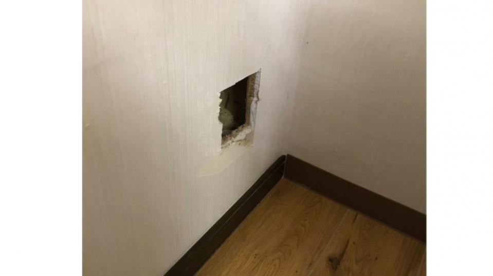 壁から出てきたのは...(画像はよしこ(@Takayoshi6211)さんから)