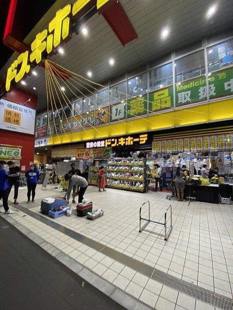 ドン・キホーテ中目黒本店前のスペース(画像は植村 真太郎@s_uemuraさん提供)