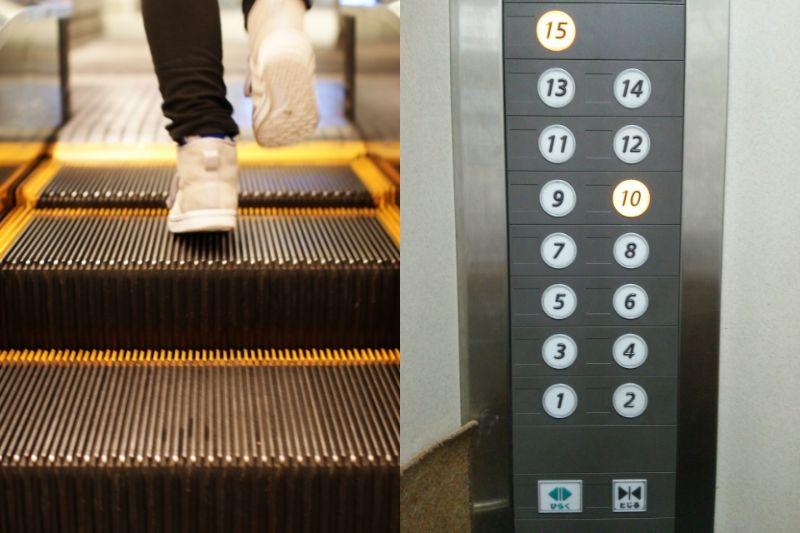 何階からエレベーターに乗る?