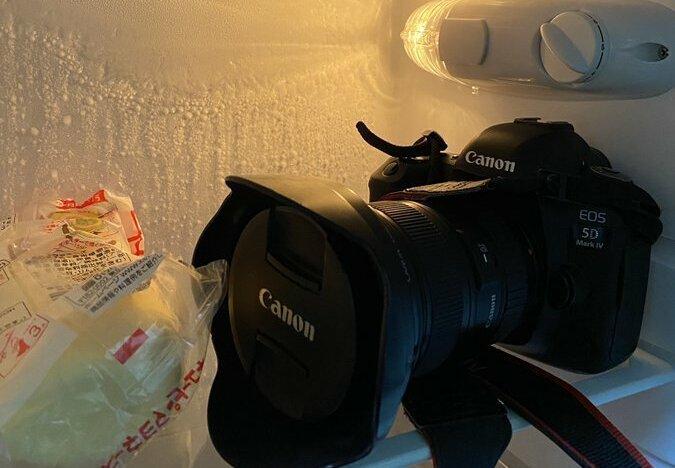 冷蔵庫にカメラ(画像はkoto(@kotoku10)さんから)