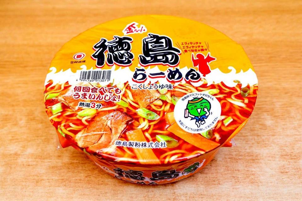 徳島製粉「金ちゃん徳島らーめんカップ」