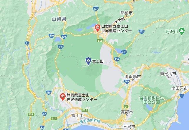 富士山世界遺産センターは2つある(C)Google