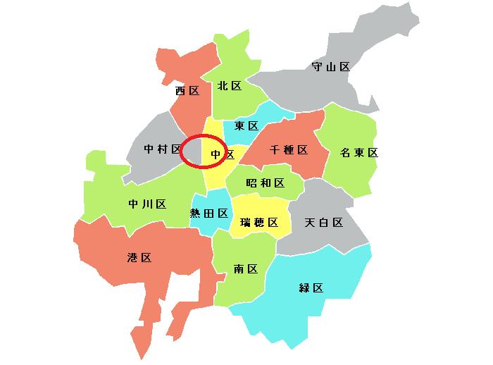 「名古屋って都会だよね」、その時の名古屋の範囲を示した図(画像はSora Arakawa(arkw)(@arkw0)さんから)