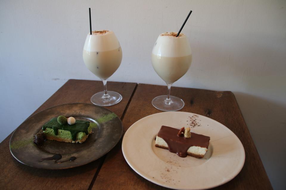 ミルクティーとチーズケーキ
