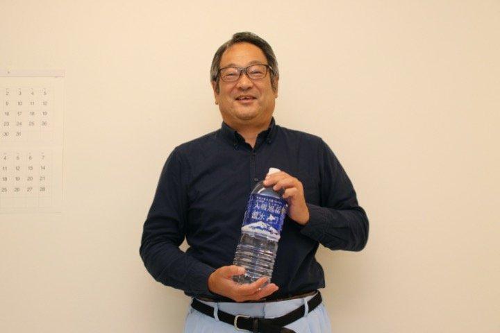 大雪水資源保全センターの濱本社長(編集部撮影)