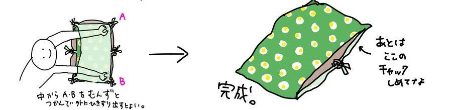 コツは角を掴むこと(画像はたぬ£ポンド@tan_uk_ijiruさん提供)