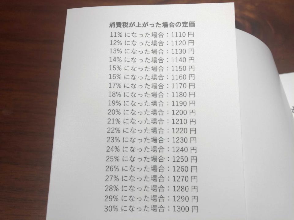 価格表示がびっしり(画像は編集部撮影)