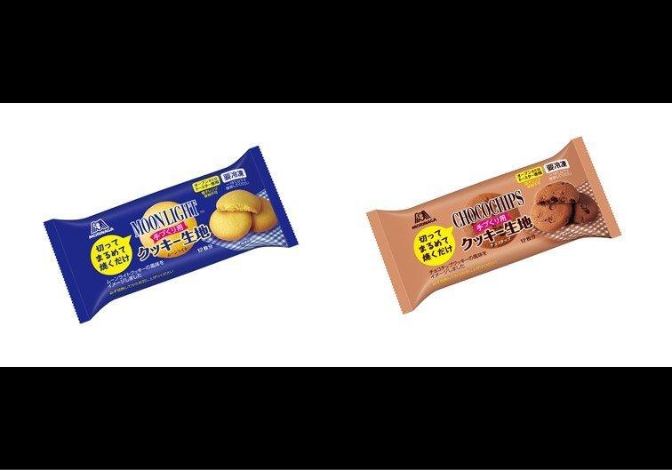 (左)ムーンライトクッキー生地(右)チョコチップクッキー生地 画像は森永製菓から(編集部で一部加工)