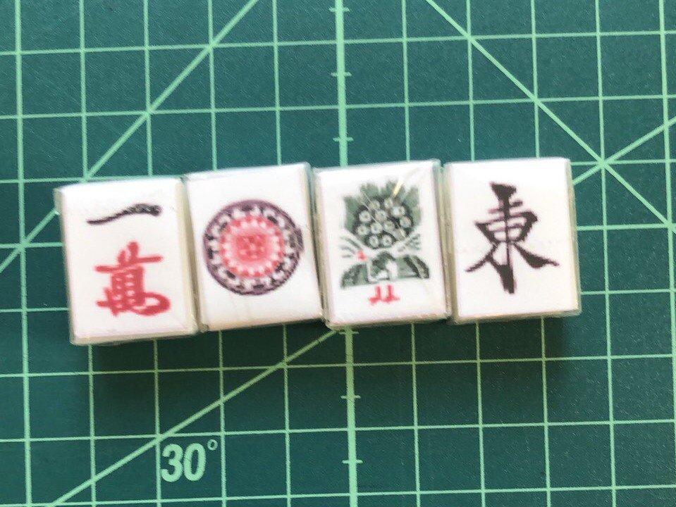 麻雀牌表を印刷している(シメジん@さん提供、編集部で一部トリミング)