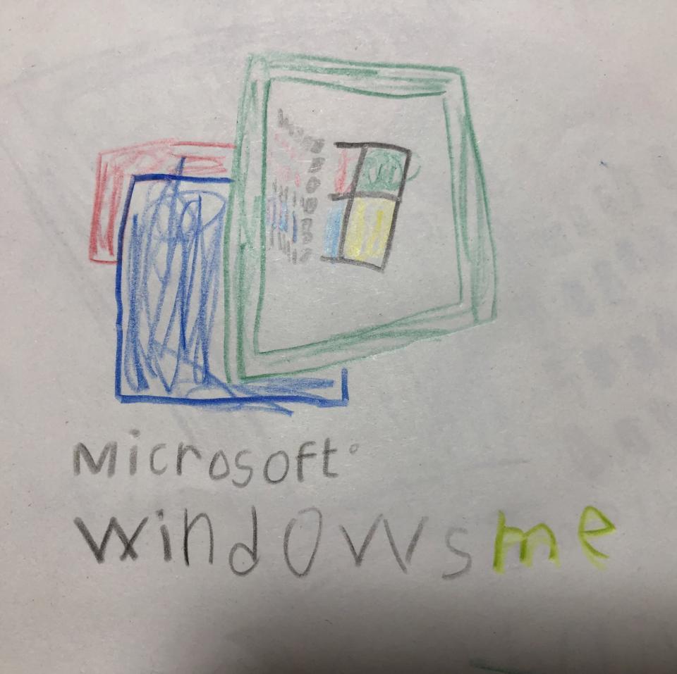 息子さん作のmeのロゴ(画像はなつらいち@natsuikuji123さん提供)